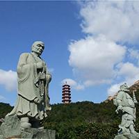 XFGS1204-十八罗汉石雕塑像厂