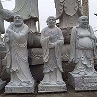 XFGS1209-十八罗汉石雕塑像制作