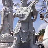 XFGS1212-十八罗汉石雕塑像制作厂家