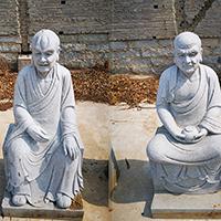XFGS1213-十八罗汉石雕塑像生产厂家