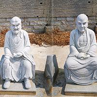 XFGS1215-十八罗汉石雕塑像供应