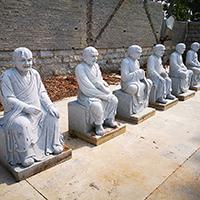 XFGS1216-十八罗汉石雕塑像加工
