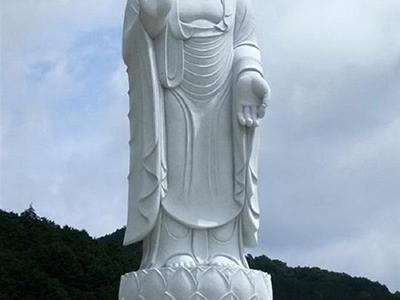 XFGS1365-释迦牟尼佛石雕站像定制