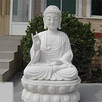 XFGS1416-释迦牟尼佛石雕坐像制作厂家