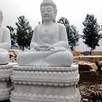 XFGS1417-释迦牟尼佛石雕坐像生产厂家