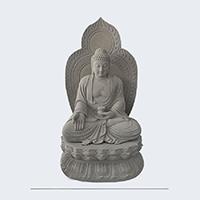 XFGS1425-释迦牟尼佛石雕坐像报价