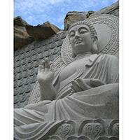 XFGS1427-释迦牟尼佛石雕坐像制作
