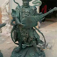 XFGS1642-四大开王石雕塑像设计