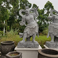 XFGS1677-四大天王石雕塑像多少钱