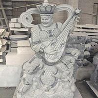 XFGS1678-四大天王石雕塑像制作厂家