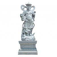 XFGS1683-四大天王石雕塑像厂家
