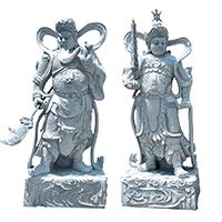 XFGS1684-四大天王石雕塑像厂