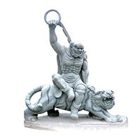 XFGS1686-四大天王石雕塑像设计