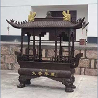 XFGS1754-寺院铜香炉加工