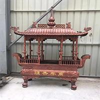 XFGS1758-寺院铜香炉定制