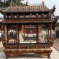 XFGS1782-寺院铜香炉供应