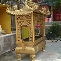 XFGS1805-寺院铜香炉制作