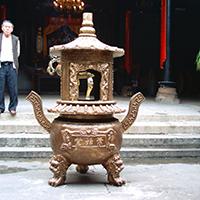 XFGS1814-寺院铜香炉厂家