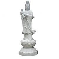 XFGS1853-送子观音石雕塑像生产厂家