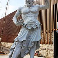 XFGS1856-天王哼哈二将石雕塑像加工