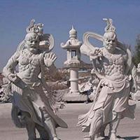 XFGS1858-天王哼哈二将石雕塑像厂家