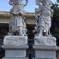 XFGS1860-天王哼哈二将石雕塑像设计