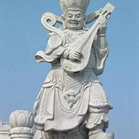 XFGS1867-天王哼哈二将石雕塑像制作厂家