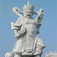 XFGS1869-天王哼哈二将石雕塑像公司