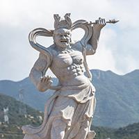 XFGS1870-天王哼哈二将石雕塑像加工