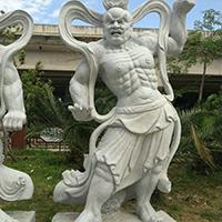 XFGS1871-天王哼哈二将石雕塑像加工厂