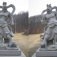 XFGS1872-天王哼哈二将石雕塑像厂家