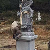 XFGS1873-天王哼哈二将石雕塑像厂