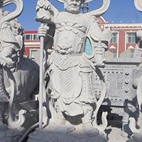 XFGS1876-天王哼哈二将石雕塑像报价