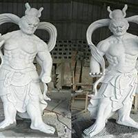 XFGS1878-天王哼哈二将石雕塑像制作