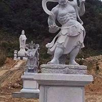 XFGS1880-天王哼哈二将石雕塑像多少钱