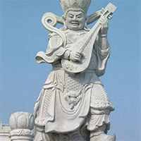 XFGS1881-天王哼哈二将石雕塑像制作厂家