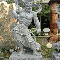 XFGS1882-天王哼哈二将石雕塑像生产厂家
