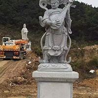 XFGS1883-天王哼哈二将石雕塑像公司