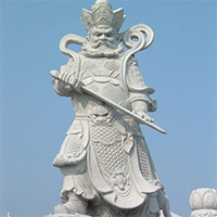 XFGS1884-天王哼哈二将石雕塑像供应
