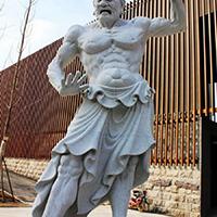 XFGS1886-天王哼哈二将石雕塑像加工厂