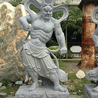 XFGS1887-天王哼哈二将石雕塑像厂家