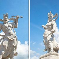 XFGS1891-天王哼哈二将石雕塑像价格