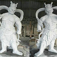 XFGS1892-天王哼哈二将石雕塑像制作