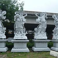 XFGS1895-天王哼哈二将石雕塑像多少钱