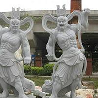 XFGS1900-天王哼哈二将石雕塑像加工厂