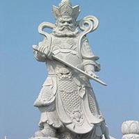 XFGS1903-天王哼哈二将石雕塑像定制