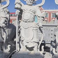 XFGS1904-天王哼哈二将石雕塑像设计