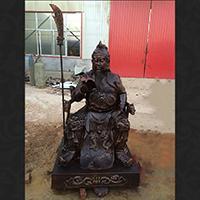 XFGS2359-铜雕关公像_关二爷铜像_武财神铜雕像价格