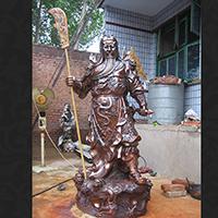 XFGS2361-铜雕关公像_关二爷铜像_武财神铜雕像哪里有
