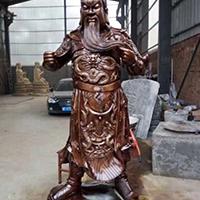 XFGS2364-铜雕关公像_关二爷铜像_武财神铜雕像生产厂家